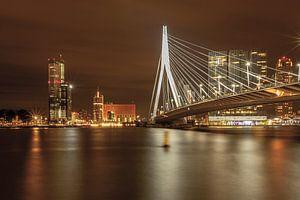 Rotterdamse Erasmusbrug 'by night van