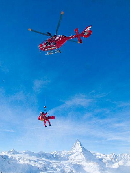 Reddingshelikopter Matterhorn van Menno Boermans