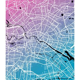 Berlijn - Stadsplattegrondontwerp Stadsplattegrond (kleurverloop) van ViaMapia