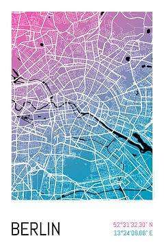 Berlijn - Stadsplattegrondontwerp Stadsplattegrond (kleurverloop)