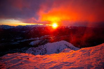 Sonnenuntergang am Dobratsch - Kärnten - Österreich