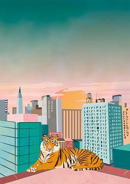 New York Tiger von Kyra Verboord