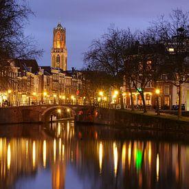 Zandbrug und Oudegracht Utrecht von Donker Utrecht