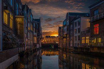 Zonsondergang in Dordrecht sur Rob Bout