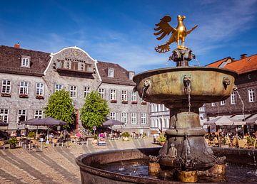 Fontein in Goslar op de markt van Animaflora PicsStock