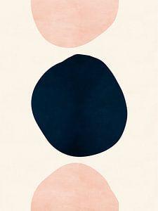 Pink & Blaue abstrakte Formen