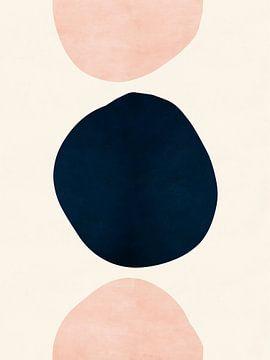 Pink & Blue Abstracte Vormen van MDRN HOME