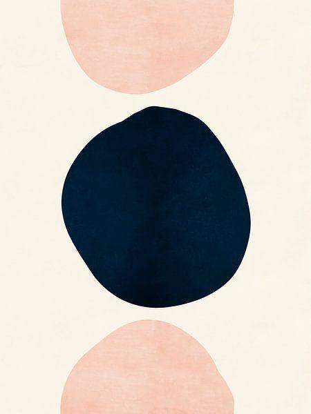 Pink & Blaue abstrakte Formen von MDRN HOME