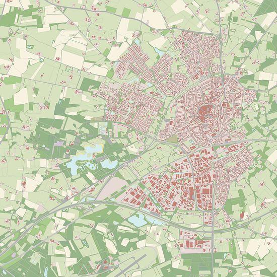 Kaart vanOldenzaal