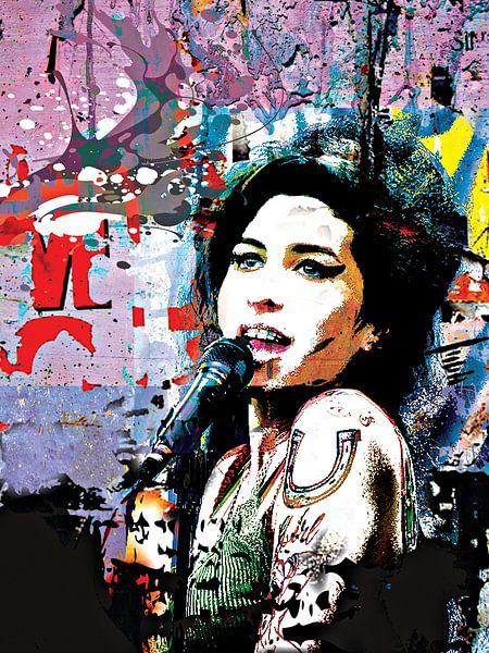 Amy Winehouse Rockstar van PictureWork - Digital artist