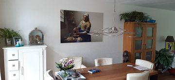 Kundenfoto: Dienstmagd mit Milchkrug, Johannes Vermeer
