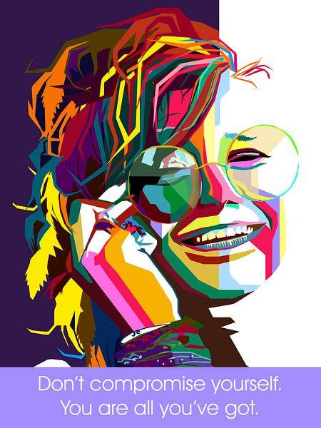 Pop Art Janis Joplin von Doesburg Design