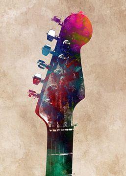 Gitaar 7 muziekkunst #gitaar #muziek van JBJart Justyna Jaszke
