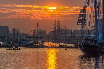 Sonnenuntergang auf Segel von Ardi Mulder