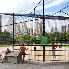 Honkbal op The Great Lawn in Central Park, Manhattan,New York van Arie Storm
