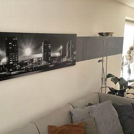Klantfoto: Panorama Stadion De Kuip - Feyenoord van Vincent Fennis, op canvas