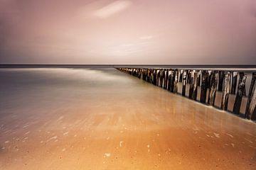 Strand zee zicht Domburg van Björn van den Berg