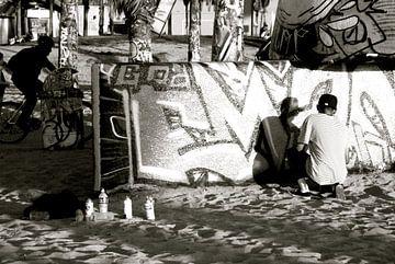 Street art at Venice Beach, California van Samantha Phung