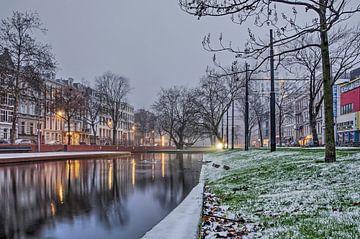 Winter am Sonntagmorgen von Frans Blok