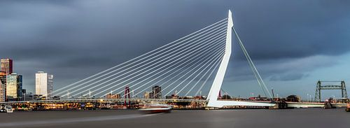 Mooie, indrukwekkende skyline Rotterdam