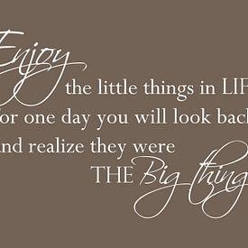 Enjoy the little things - Donker bruin van Sandra H6 Fotografie