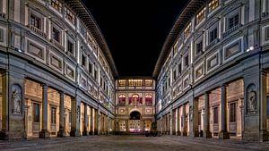 Uffizi gallery Florence at night I van