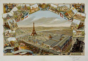 Affiche van de wereldtentoonstelling van 1889 van Atelier Liesjes