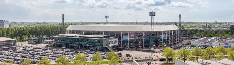 Stadion Feyenoord / De Kuip Kampioenswedstrijd (panorama) van Prachtig Rotterdam