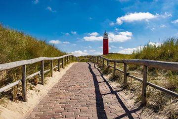 Het pad naar de vuurtoren op Texel van Pamella Peverelli