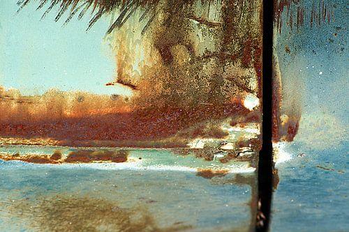 Abstract rust / beach scene.