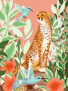 Tropische Cheeta van Goed Blauw