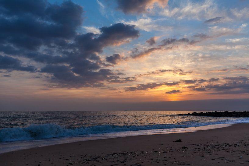 Zonsondergang Algarve van Elly Damen