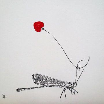 HeartFlow Libelle von Helma van der Zwan