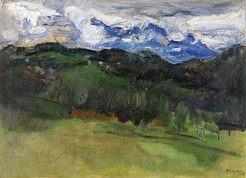 Gewitter über dem Rosengarten bei Bozen, MAX SLEVOGT, 1914 von Atelier Liesjes