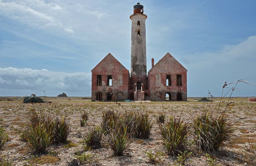 vuurtoren op Klein Curaçao  van Fraukje Vonk
