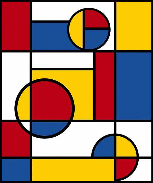 Piet Mondrian Kunst 4 von Marion Tenbergen