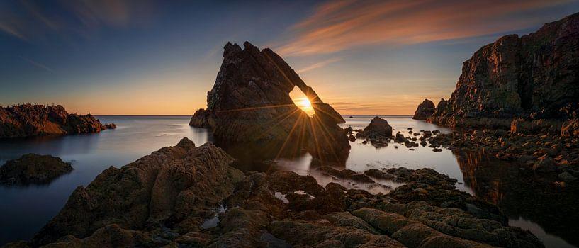 Fiddle Rock Panorama van Wojciech Kruczynski