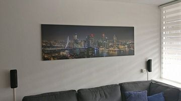 Klantfoto: Het uitzicht op de skyline van Rotterdam van MS Fotografie | Marc van der Stelt