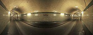 Le vieux tunnel de l'Elbe à Hambourg