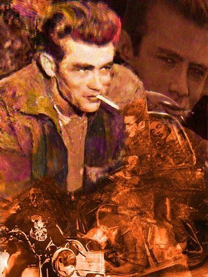 Dean Scape 1 James Dean Pop Art van Leah Devora
