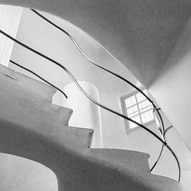 Trap in Casa Batlló in Barcelona van Ellen van Schravendijk