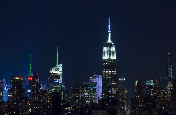 Skyline New York (Empire State Building) van Marcel Kerdijk