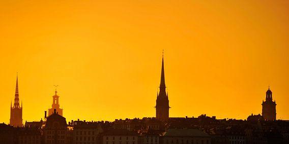 Stockholm Old City, Gamla Stan Sunset - Sweden van Lars Scheve
