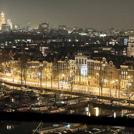 Een avond op de Prins Hendrikkade in Amsterdam  van Marcia Kirkels