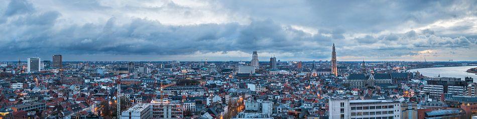 Panorama Antwerpen bij Avond