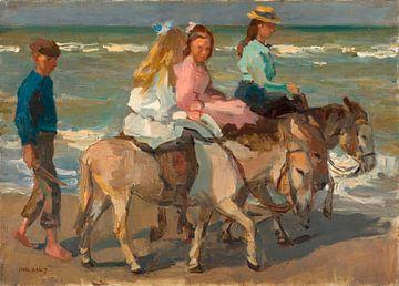 Ezeltje rijden (langs het strand), Isaac Israels