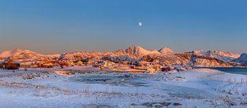 Sommarøya Winterpanorama, Noorwegen van Adelheid Smitt
