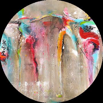 Connected dance people van Atelier Paint-Ing