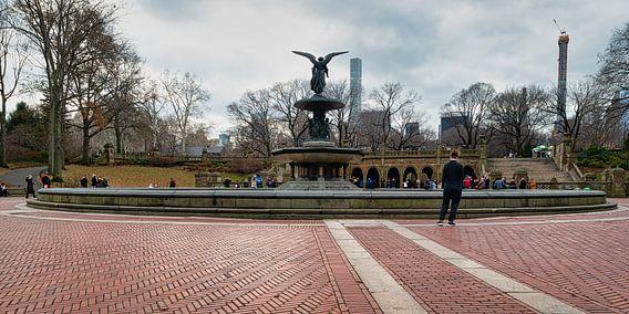 Bethesda Terras en Fontein in Central Park New York met het beroemde Engel van het Water standbeeld