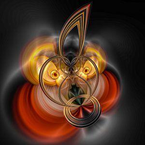 Phantasievolle abstrakte Twirl-Illustration 109/10